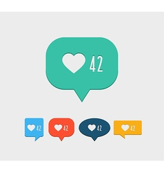 Like notification social media icon vector