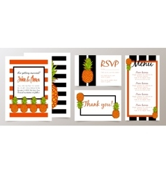 Save the date wedding invitation card with vector