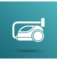 Black cleaner icon vacuum symbol electric vector