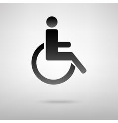 Disabled black icon vector