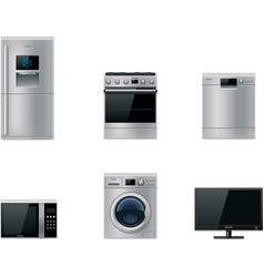 Major appliances set vector