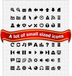Set of small web icons vector