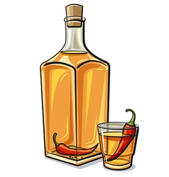 Spicy vodka vector