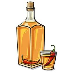 spicy vodka vector image