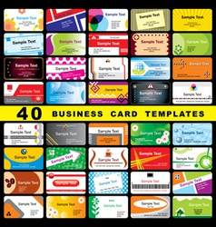 40 business cards vector
