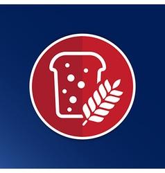 Bread ornate design background logo grain meal bun vector