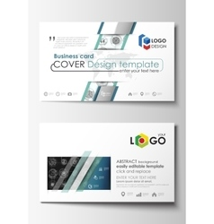 Business card templates Easy editable layouts vector image vector image