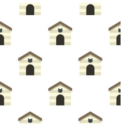 Cat house pattern seamless vector