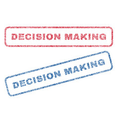 Decision making textile stamps vector