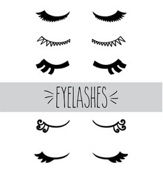 Eyelashes hand sketch vector