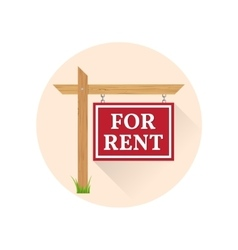 For rent Icon on the white background vector image vector image