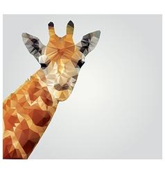 Geometric polygonal giraffe triangle pattern vector image vector image