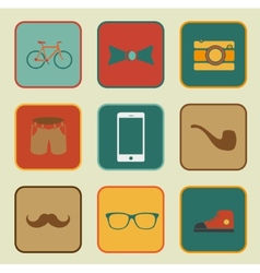 hipster style elements vector image vector image