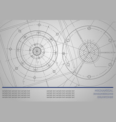 Mechanical engineering drawings on a dark gray vector