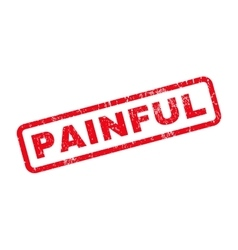 Painful rubber stamp vector