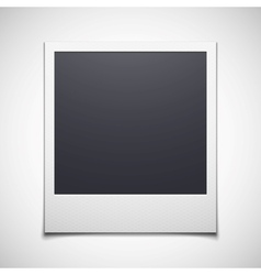 Photo frame isolated on white background vector image