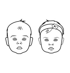 Realistic baby face icon isolated vector