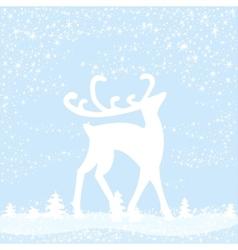 Reindeer in forest vector