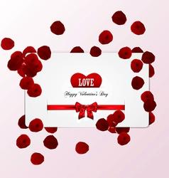 Rose petals card vector