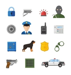 Security icons isolated on white background vector