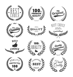 Set of quality emblems best choice vector