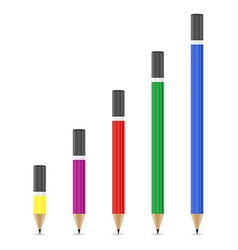 sharpened pencil 04 vector image