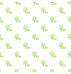 Simple green car pattern vector