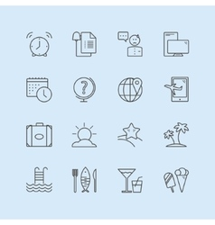 Summer logo icons set sea travel or vector