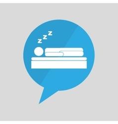 Symbol sleeps dreams design vector
