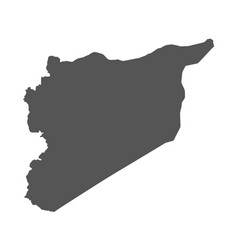 Syria map black icon on white background vector