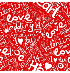 Valentine seamless pattern for your design vector image