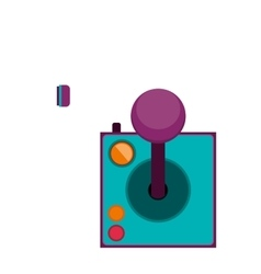 joystick with buttons for games vector image