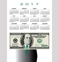 2017 whimsical money calendar vector