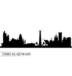 Umm al-quwain city skyline silhouette background vector