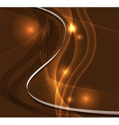 Wave line burst dark brown background vector