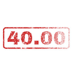 4000 rubber stamp vector image vector image