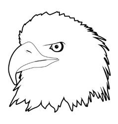Drawn eagle head vector