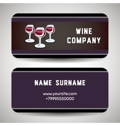Winebusinesscard vector