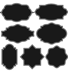 Set of blank vintage frame badges and labels vector