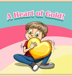 Idiom heart of gold vector