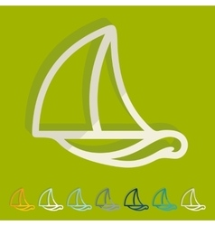 Flat design sailboat vector