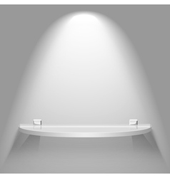 Semicircular glass shelf vector