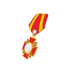 Star second world war medal cartoon icon vector