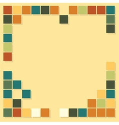 Squares template background vector
