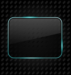 Transparent aluminum frame background vector image