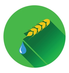Wheat with drop icon vector