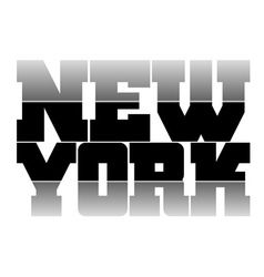 T shirt graphics new york vector
