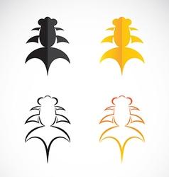 Goldfish and black goldfish on white background vector
