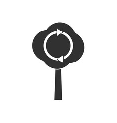 Black icon on white background tree and air vector