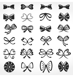 Bows Icons vector image vector image